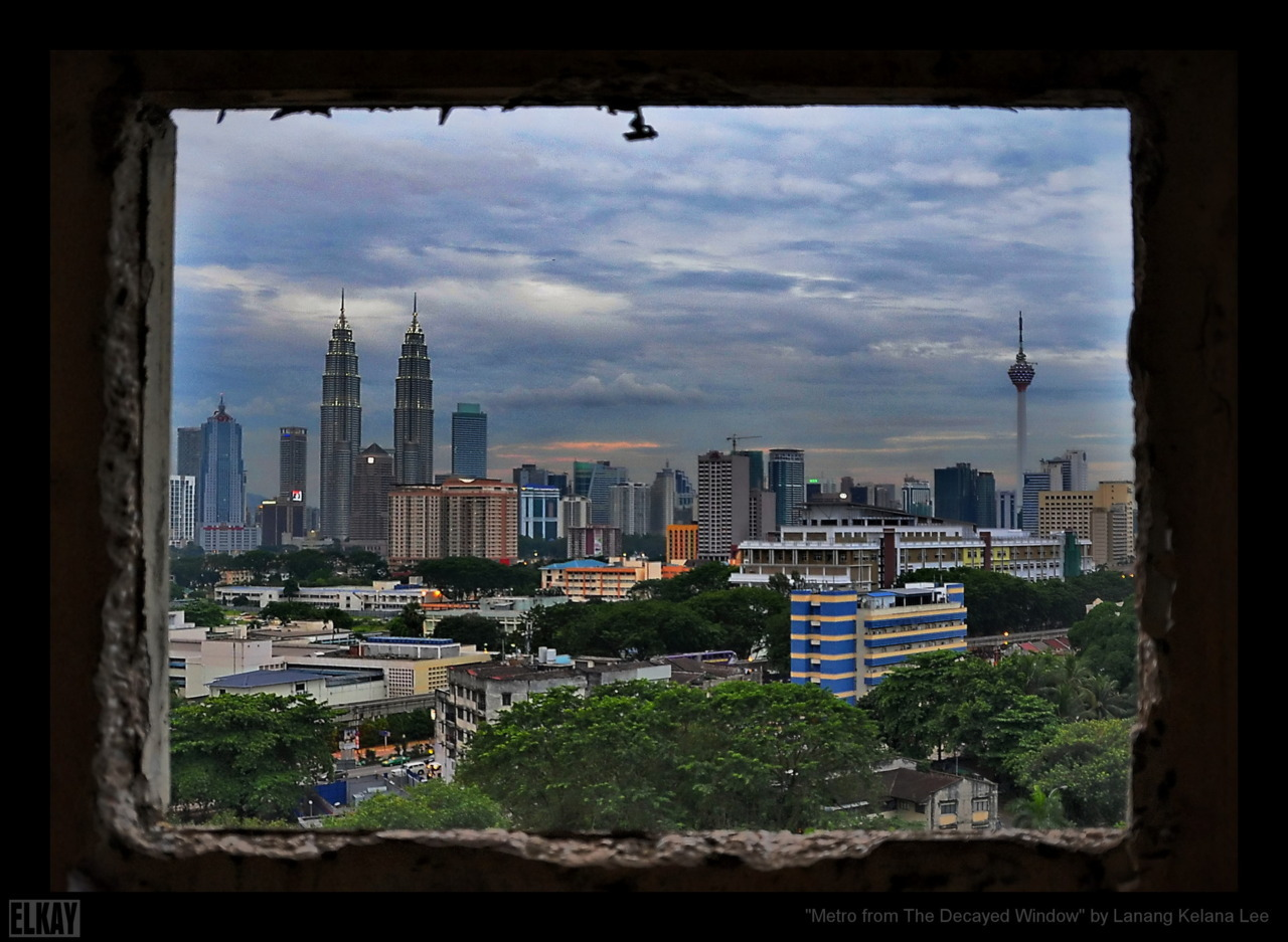 Metro From The Decayed Window 27th September 2011 | Kuala Lumpur Nikon D5000 | Sigma 18-250mm | ISO800 | 18mm | f/3.5 | 1/50s post processing with Dynamic Photo-HDR & ACDSee Pro 4