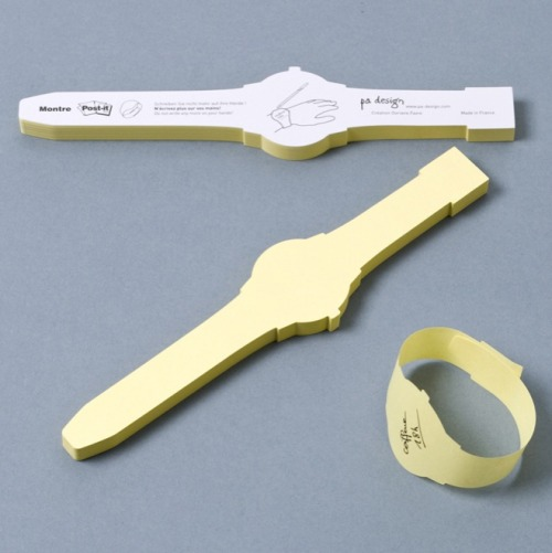 "Origin of Cool: USA Wristwatch-Shaped Post-It NotesSay goodbye to writing things on your hand and maybe possibly getting ink-poisoning! These cute little watch-shaped Post-It notes are gummed at one end of the ""strap"" so you can wrap them around your wrist with reminders written on them. If there was a link here that took you to a checkout so you could buy these Post-It watches through Origin of Cool, is this something you would consider? If so, please add ""YES"" in the comments or tweet/share the link using #OriginofCoolRules. If we get enough, we'll open an online shop for you!! By Paul Frade from 'we use turtles as doorstops' South Africa."