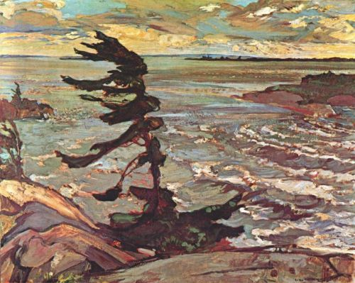 fletchingarrows:  Stormy Weather (Georgian Bay), Frederick H. Varley, 1920