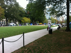 When did this tent city pop up in McPherson Square? #ows (Repost to fix link)