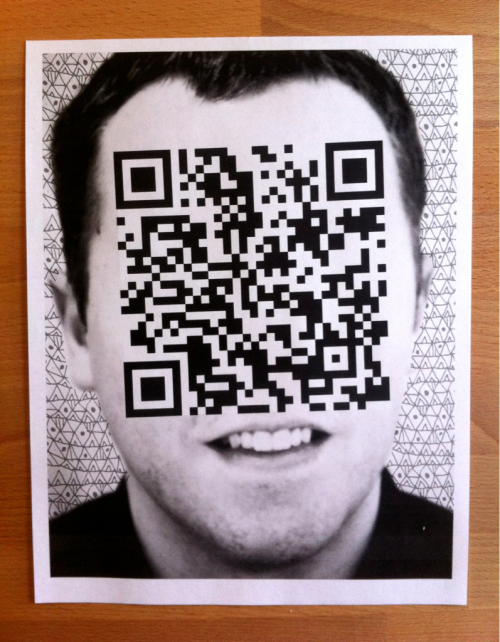Made some QR code flyers to promote my gallery show and website.  Curious to learn the effectiveness these things have…