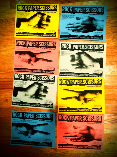 A series of xerox flyers to promote my upcoming gallery show.
