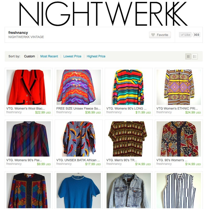 NIGHTWERKK VINTAGE  on ETSY. SHOP.