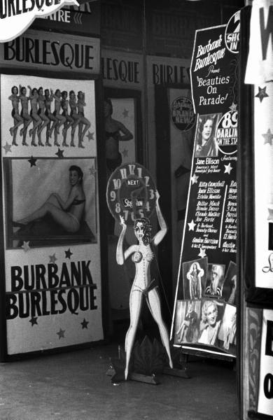 The Art of Burlesque: Burlesque house on Skid Row, photo by Alfred Eisenstaedt. Los Angeles, California, 1936.