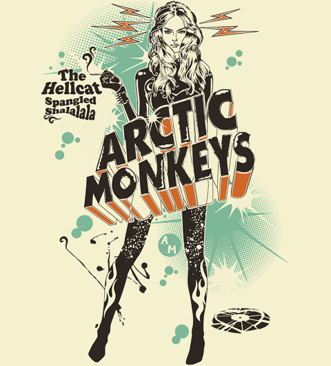 Reverbcity Shop - Camisetas/T-shirts Arctic Monkeys - The Hellcat Spangled Shalalala on We Heart It. http://weheartit.com/entry/15041623