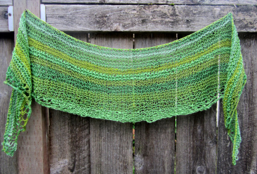 Shawl that I recently finished knitting for a bribe for SLUG Queen.