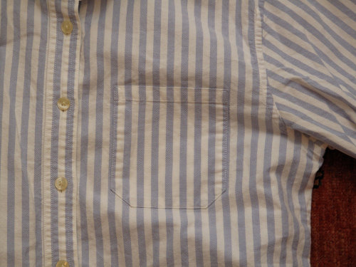 women's vintage L.L. Bean striped oxford.