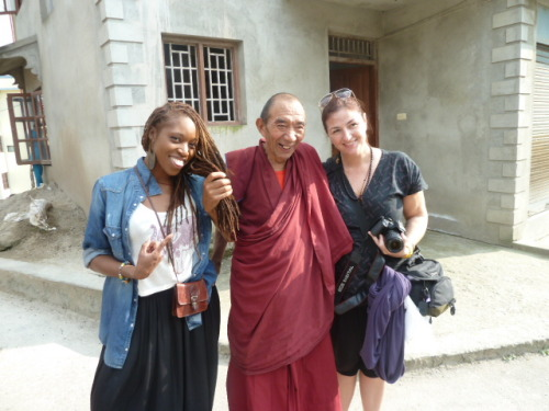 When a monk asks to touch your hair, you say yes. And you're not even mad about it. It's an oft forgotten Buddhist principle.