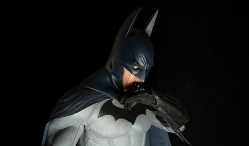 "comicsalliance:  Real-Life 'Batman: Arkham City' Costume is Truly Best Cosplay Ever [UPDATED] As many players of Batman: Arkham City agree, the video game's version of Batman's costume is the best ""realistic"" imagining of the iconic superhero outfit ever committed to… well, if not to film, then to heavily photorealistic computer imagery. A slick synthesis of the classic blue-grey-yellow look of the Batman comics and the textured amor style of Batman Begins, the Arkham City costume is one of those perfect ideas that just seems too good to actually work in a live-action film. Or is it? A group of artists decided the game costume had to be freed from its digital confines, so they put their heads together and achieved the unthinkable, a real-life Arkham City costume that's unquestionably the greatest Batman costume ever made.""All of us agreed that this was the best movie suit never done as well as the entire game being the film we all wanted to see,"" wrote Lisa Alvarez aka Batprisss on The Effects Lab, a message board for special effects sculptors, makeup artists, mask makers and designers. Alvarez and her team are veteran special effects industry professionals who decided to form their own company, XworkZ studios, after many years of working for other outfits.ComicsAlliance spoke with Alvarez, one of the lead designers on the project, who had this to say about her astonishing work:    This was a labour of love that came from years of reading comics and wishing that the character we loved as fans would show up on the screen. It took the incredible game design of Rocksteady studios to finally kick start the project and what you see is our prototype. We used all of our teams experience working on similar designs for major motion pictures, to come up with what we see as a starting point for the direction we think most fans would love to see the franchise go. We feel we have at least started to shed some light on the reality that the character as we know it, can be done true to the books, and doesn't always need to be dressed in black to succeed with the audience.  Read more at ComicsAlliance.  This is the best."