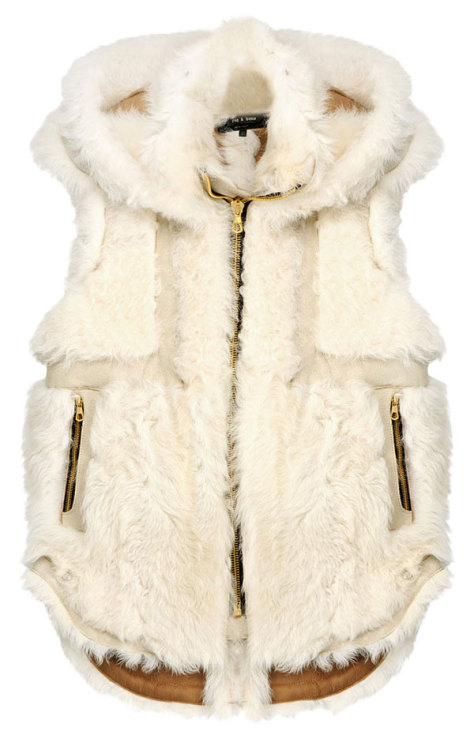 Winter Ready Brave the elements in Rag & Bone's shearling hooded vest. It's the ultimate in cold-weather luxe!