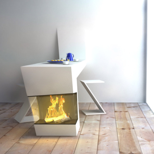 micasaessucasa:  (via great desk fireplace | Blue Ant Studio)