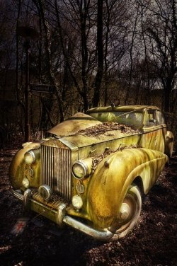 Abandoned vintage car via How to be a Retronaut