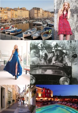 Fabulous Holiday Destinations: St. Tropez  I love St. Tropez, it will always be a source of inspiration for my collection.  I mean it was made famous in the 50's and 60's by two of my ultimate fashion icons Brigitte Bardot and Bianca Jagger- it just doesn't get any better than that! Hotel Byblos is my favorite. The location is great, you can walk to everything and I love breakfast on the patio overlooking the pool – it's dreamy. xoRZ  Get the look! Vanessa Maxi Skirt Farrow Top