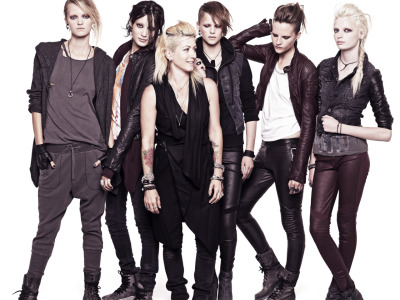 H&M announced today a 30 piece collection designed for the brand by Trish Somerville, costume designer of David Fincher's film version of The Girl With The Dragon Tattoo, starring Rooney Mara.  The collection somewhat predictably offers leather jackets, slouchy hoodies, torn denim and jersey tops that are drapey and somewhat aggressive-looking. The collection will debut at Colette in Paris on November 28th, followed by a worldwide release on December 14th. For those of you that aren't familiar with the actress or the film, click here. Rooney Mara covers the November issue of VOGUE.  (Image Courtesy PaulWilmot for H&M)