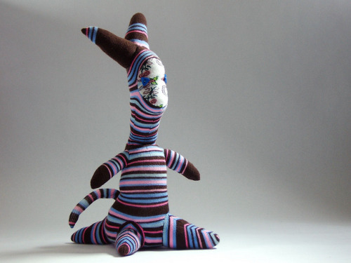 Wendy on Flickr. A Monster Named Wendy. #cute #handsewn #craft #stripes
