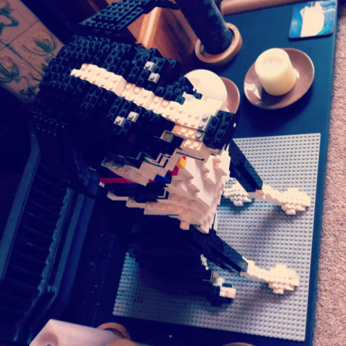 In Darren's living room was a life size Lego version of his dog. Brilliantly done.  The head lifts off and a panel opens up on top of its head, inside you'll find a Lego version of Darren and his wife at the controls of the dogs brain.