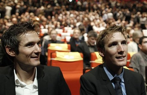 The presentation of the tour de France route 2012. Fränk and Andy.