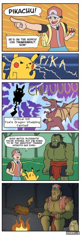 collegehumor:  WoW Joins the Pokemon Craze (Click for larger)