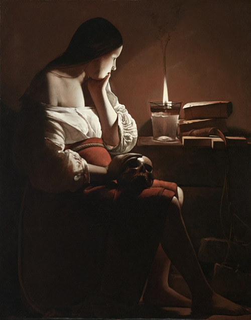 "crimson-and-clover:  ""The Magdalene With the Smoking Flame"" by Georges de la Tour, (1636-1638)"
