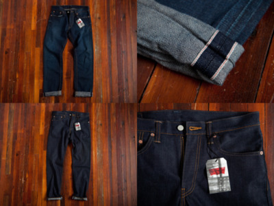 Billy Reid X Levi's Denim Levi's 511 Skinny Raw Selvedge and Levi's 501 Raw Selvedge. Due to the unwashed raw state of denim, jeans will develop a personality with age and wear.