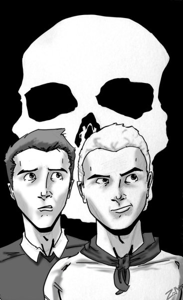 Venture Bros. Black and White by ~XAQ-Industries