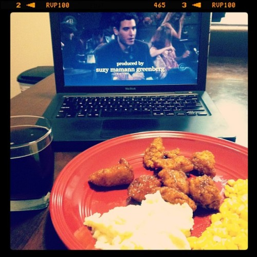 Dinner, Rum and Coke, and watching How I met your mother on my #macbook (Taken with instagram)