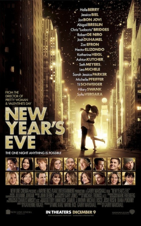 New poster for New Year's Eve, in theaters on December 9, 2011.