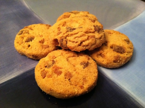 My favorite thing du jour: Biscomerica cappuccino chocolate chip cookies.