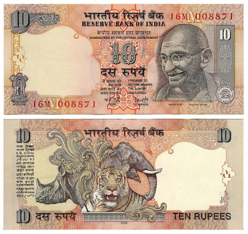 10 Indian Rupees by LLudo on Flickr.