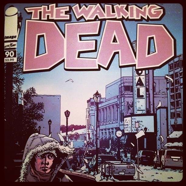 chrispetescia:  Current status: issue 90 of #thewalkingdead (Taken with instagram)  No joke @chrispetescia, this is the shopping center across from my Dad's office in Maryland.