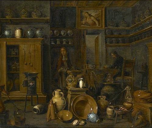 Gian Domenico Valentino Interior of an Apothecary 17th century