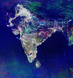 Happy Diwali! Maybe you've seen this photo claiming to be a NASA photo of India during Diwali. Business Insider dug up some background on the image, and this is what they found!  The photo is an overlay of shots highlighting India's burgeoning population over several years. The white lights were the only illumination visible before 1992. The blue lights appeared in 1992. The green lights in 1998. And the red lights appeared in 2003. Current speculation suggests the lights are a result of the Hindu celebration Diwali, or the celebration of lights, held from mid-October to mid-November, but NASA was unable to confirm what time of year the shots were taken.  p.s. Are you South Asian (Indian, Pakistani, etc)? You should swab for Amit!