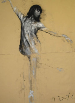 Tamara III by Mark Demsteader, pastel and collage