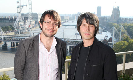 putdownmypants:  Particle physicists Jeff Forshaw, left, and Brian Cox in London. Photograph: Katherine Rose for the Observer  Brian Cox and Jeff Forshaw explain the big bang What is infinity? Is  the Milky Way omelette-shaped? Readers ask particle physicists Brian Cox  and Jeff Forshaw to unscramble some of the universe's mysteries It was a scientific match made if not in heaven, then in manmade conditions approaching the big bang: Brian Cox and Jeff Forshaw first met at a particle collider in Hamburg 15 years  ago. They have collaborated on various scientific projects ever since  and are now both professors at Manchester University's Particle Physics Group and are involved in research projects at Large Hadron Collider at Cern, Geneva. Read on  You can also listen to a 6-minute audio of Prof Brian Cox talking on BBC Radio 4's Today programme by clicking on this link: Professor Brian Cox: Quantum physics 'is not difficult'.