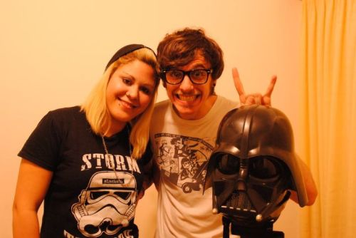 mierlody:  me,my nerd friend and darth  jijiji <3  dagas&hearts never dies