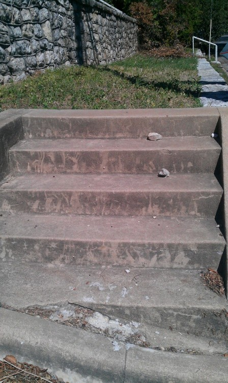 This is where the sidewalk ends. Nueces & W. 10th.