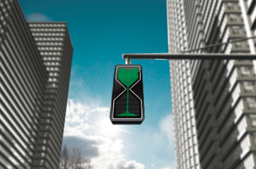 jaymug:  Sand Glass Traffic Light