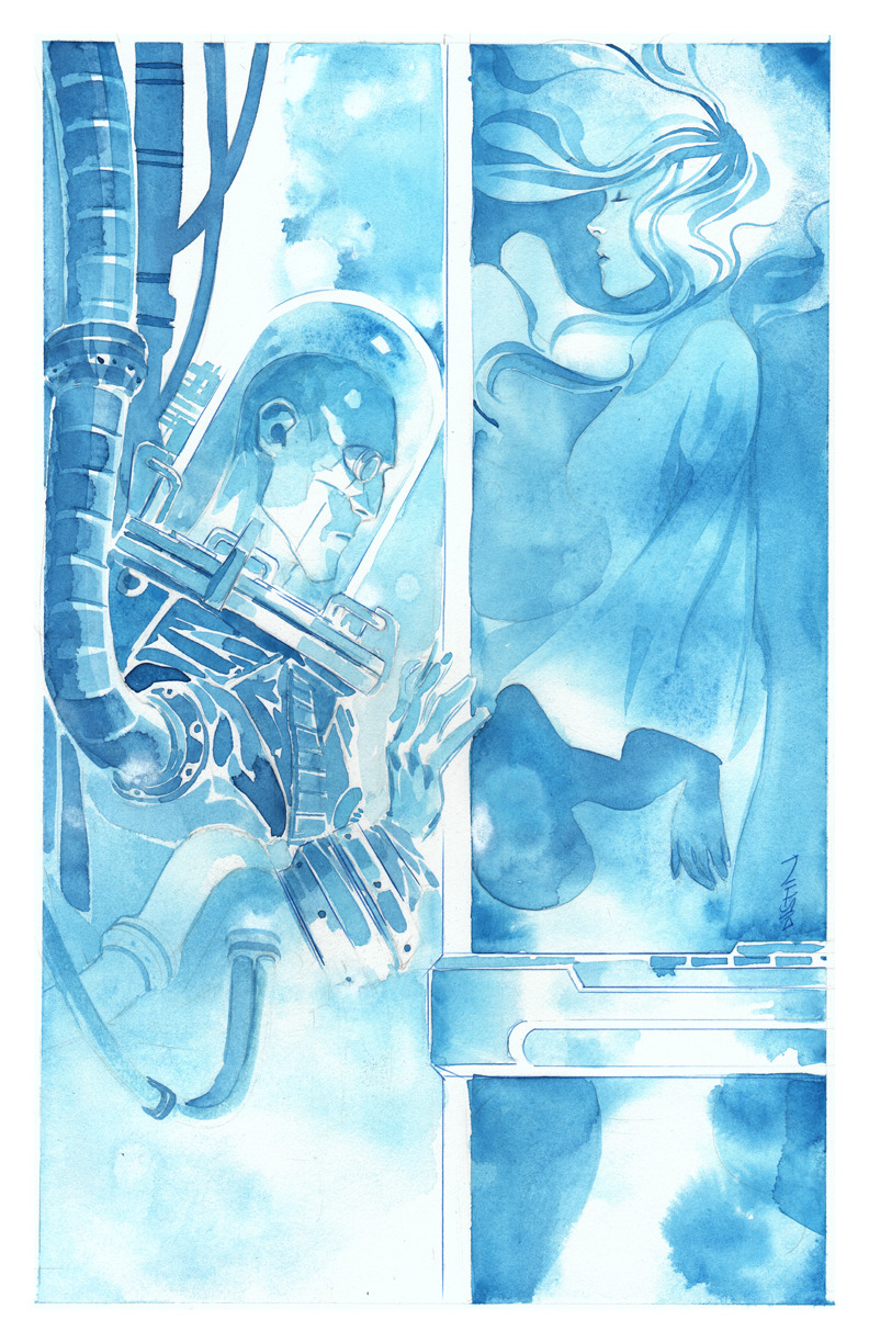 Nora and Victor : by Dustin Nguyen  Mr. Freeze's love for the beautiful Nora <3