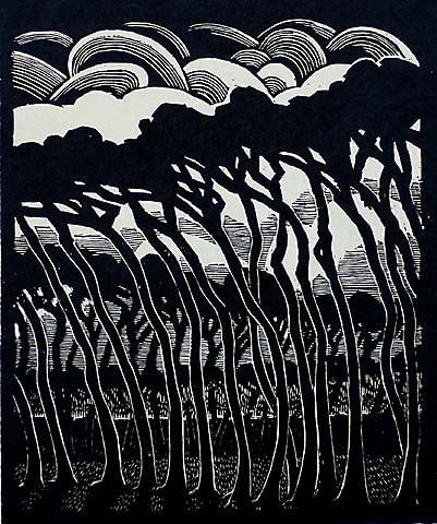 yama-bato:  VICTOR DELHEZBelgian, (1901-1985) Woodcut, 1925, edition 225, as published in Antwerp by J.E. Buschmann. 9 5/8 x 8 1/8 in.