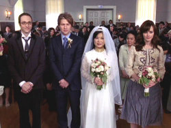 TV wedding: Lane Kim and Zack Van Gerbig in Gilmore Girls