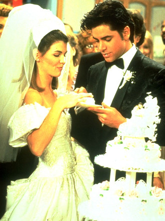 TV wedding: Jesse Katsopolis and Becky Donaldson from Full house