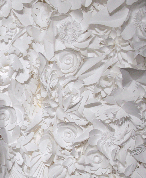 flowers and garlands delicately made from paper for the chanel s/s 2009 haute couture backdrop