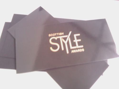 Scottish Style Awards invitations arrive for nominated dancers Daniel Davidson (Most Stylish Male) and Christopher Harrison (Breakthrough Start of the Year). We'll find out if the boys win on Saturday!