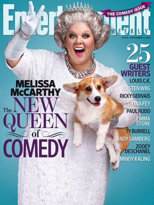 popculturebrain:  This Week's EW Cover: Melissa McCarthy rules the 2011 Comedy Issue