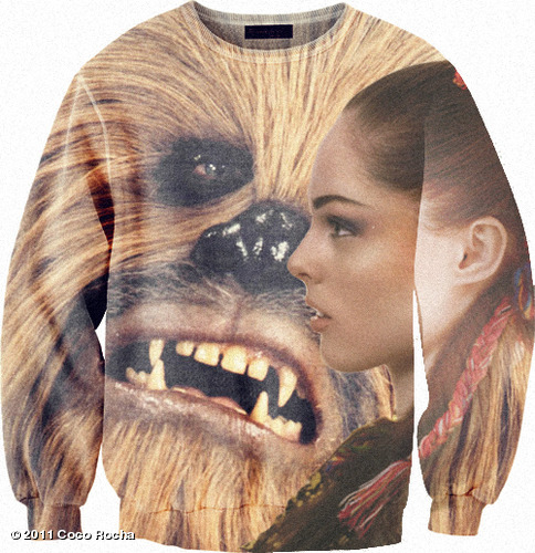 Finally, someone had the smarts to put Chewbacca and I together on a sweatshirt. View more Coco Rocha on WhoSay