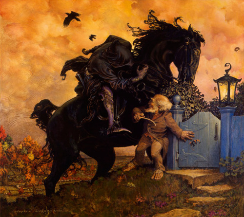 "Stephen Hickman. Tolkien:""Gaffer Gamgee and the Black Rider"""