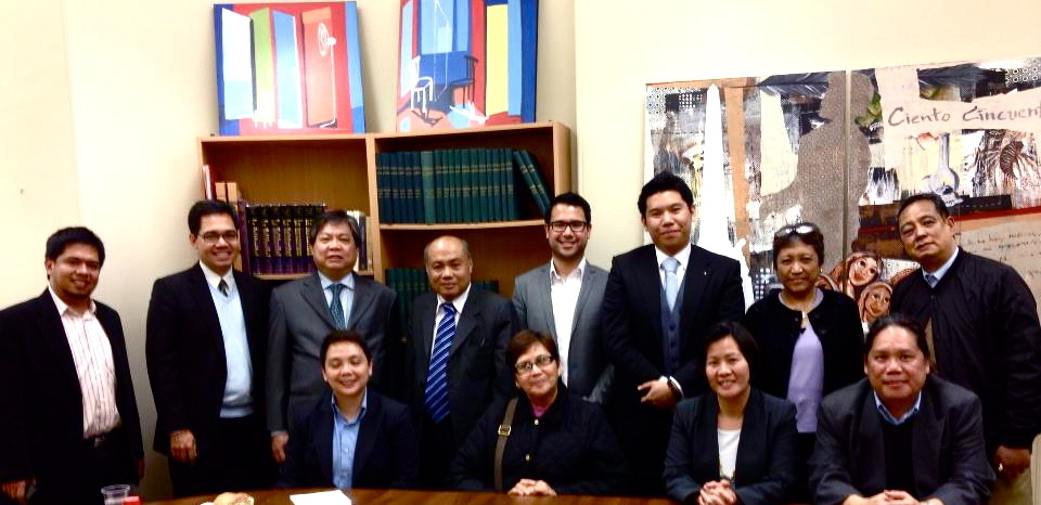 One Filipino and FilCom members during a meeting with Commissioner Velasco of the Comelec and the Department of Foreign Affairs at the Philippine Embassy London. Commissioner Velasco is currently in Europe supporting efforts for the upcoming OAV registration which goes live next week. We were fortunate to meet with him to discuss issues that we have come across in addition to potential solutions to support the Comelec and the Filipino.