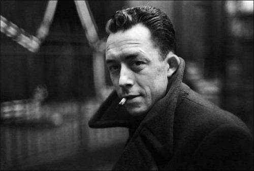 "theamericanscholar:   ""…while [Voltaire and Camus] conceded that the world is meaningless, both writers insisted  upon the collective search for meaning and dignity. Voltaire and Camus  saw how our lives are shot through with beauty and truth and understood  that lucidity is all we have in an indifferent and silent universe.""  Regarding French president Nicolas Sarkozy's proposal to move Albert Camus' body to the Panthéon in late 2009 (which never happened, by the way), Robert Zaretsky wrote this piece comparing the absurdist philosophies of Voltaire and Camus. Read Giving Absurdity Its Due. (Above, Albert Camus via)"