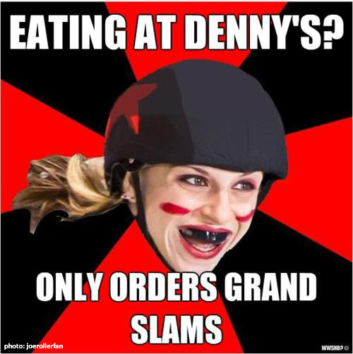 Eating at Denny's…
