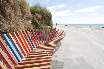 The longest bench, by Studio Weave